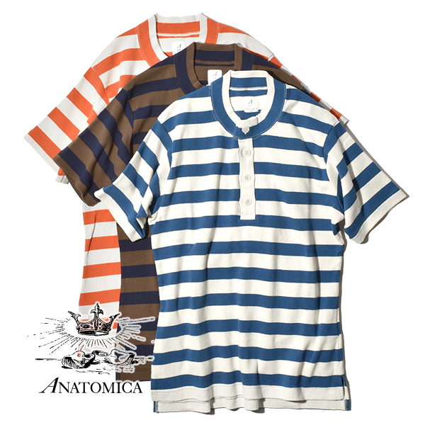 【50%OFF SALE セール】アナトミカ ボーダー マリナー 1910 ヘンリー S/S ヘンリーネック Tシャツ マリン 半袖 メンズ レディース ANATOMICA MARINIER 1910 HENRY S/S