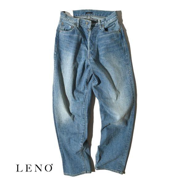 【サイズ交換往復送料無料対象】LENO リノ LOOSE TAPERED JEANS -FADE INDIGO- ルーズ テーパード ジーンズ フェードインディゴ