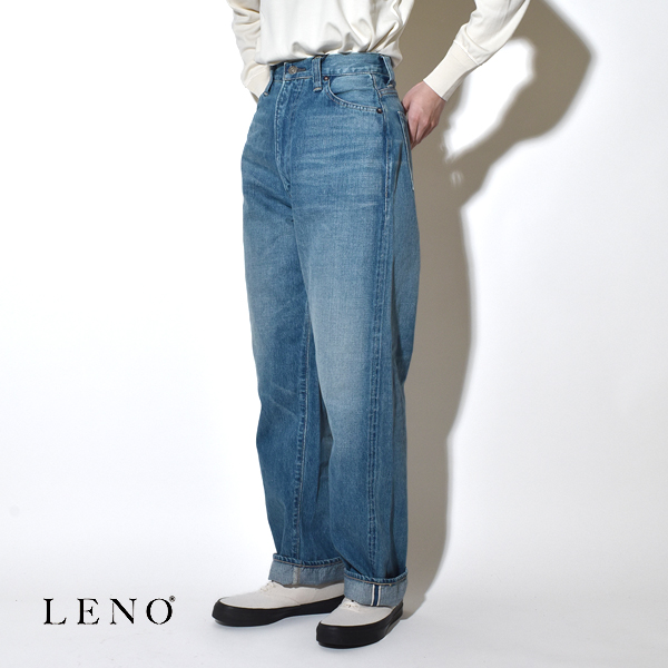 """【サイズ交換無料】LENO リノ """"KAY"""" HIGH WAIST JEANS -FADE INDIGO- ケイ ハイウエストジーンズ デニムパンツ フェードインディゴ"""