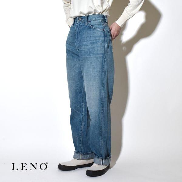 """LENO リノ """"KAY"""" HIGH WAIST JEANS -FADE INDIGO- ケイ ハイウエストジーンズ デニムパンツ フェードインディゴ"""