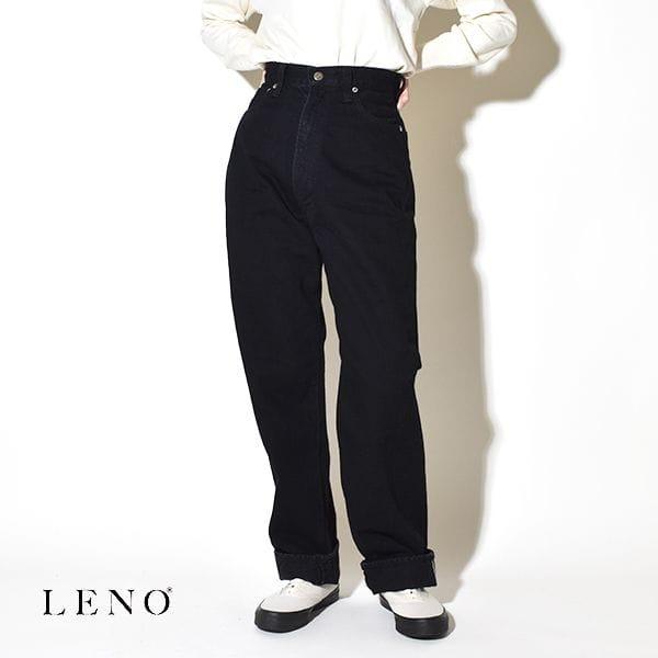 """LENO リノ """" KAY """" HIGH WAIST JEANS -BLACK- ケイ ハイウエストジーンズ デニムパンツ ブラック"""