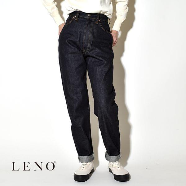 """【サイズ交換無料】LENO リノ""""LUCY"""" HIGH WAIST TAPERED JEANS -NON WASH- ルーシー ハイウエスト テーパードジーンズ デニムパンツ"""