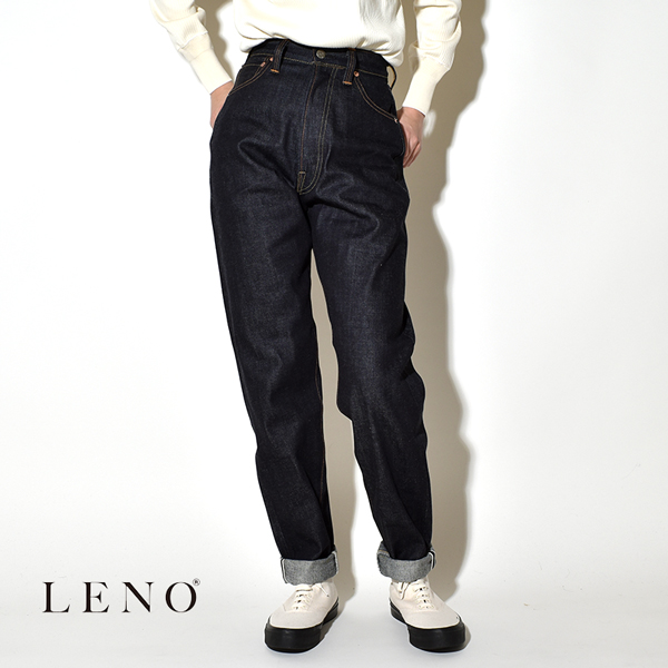 """LENO リノ""""LUCY"""" HIGH WAIST TAPERED JEANS -NON WASH- ルーシー ハイウエスト テーパードジーンズ デニムパンツ"""