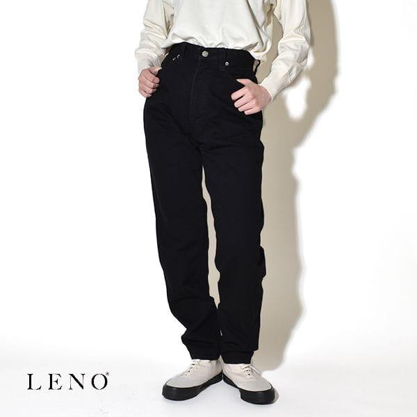 """LENO リノ """"LUCY"""" HIGH WAIST TAPERD JEANS -BLACK- ルーシー ハイウエスト テーパード ジーンズ デニムパンツ ブラック"""