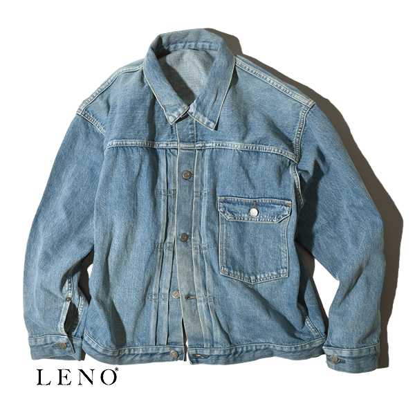 "LENO リノ""BRENDA"" BIG TRUCKER JACKET -FADE INDIGO- ブレンダ ビッグトラッカージャケット フェードインディゴ"