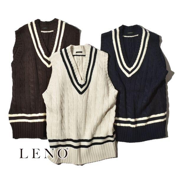 【SALE】LENO リノ TILDEN KNIT VEST チルデンニット ベスト ユニセックス