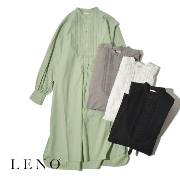 LENO リノ PIN TUCK DRESS ピンタックドレス シャツ ワンピース ドレス