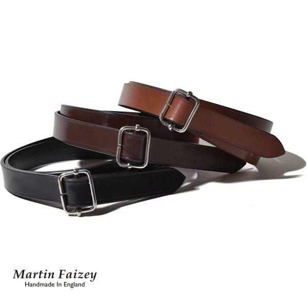 マーティンフェイジー Martin Faizey ミリタリースライドベルト メンズ レザー 本革 牛革 イギリス製