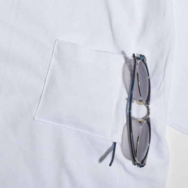 PRO TAG MOONLOID 別注 ポケット Vネック Tシャツ ポケT ポケTEE 無地 白 カットソー メンズ レディース 丸銅 アメリカ製