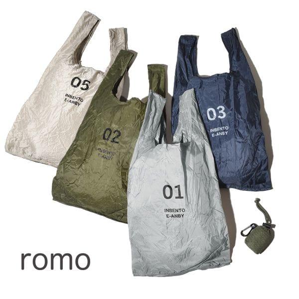 メール便可 ロモ romo エコバッグ Sサイズ メンズ レディース コンパクト レジ袋 コンビニバッグ  INBENTO レジバッグ インベント