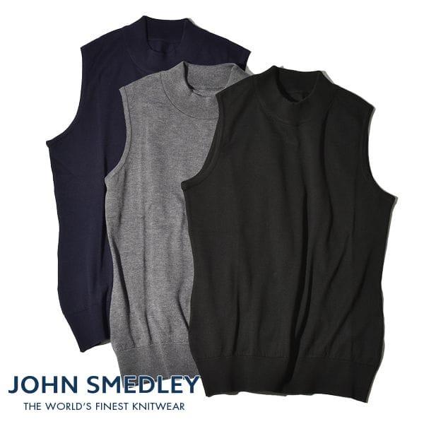 【30%OFF SALE セール】 日本限定 ジョンスメドレー JOHN SMEDLEY レディース モックネックノースリーブ S4412 30ゲージ シーアイランドコットン SEA ISLAND COTTON 正規品