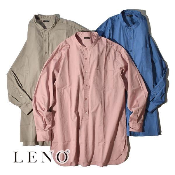 【SALE】LENO リノ BAND COLLAR SHIRT バンドカラーシャツ ユニセックス