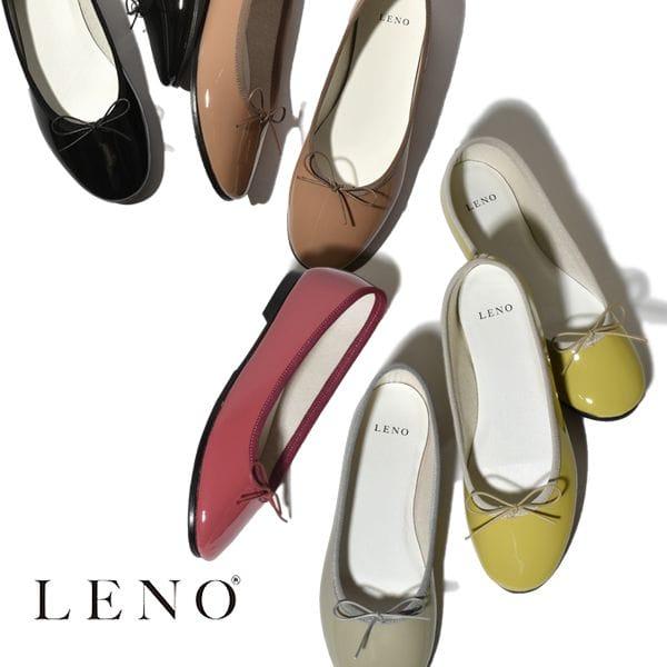 LENO リノ BALLET SHOES PATENT バレエシューズ パテントレザー GREGE PINK GREEN