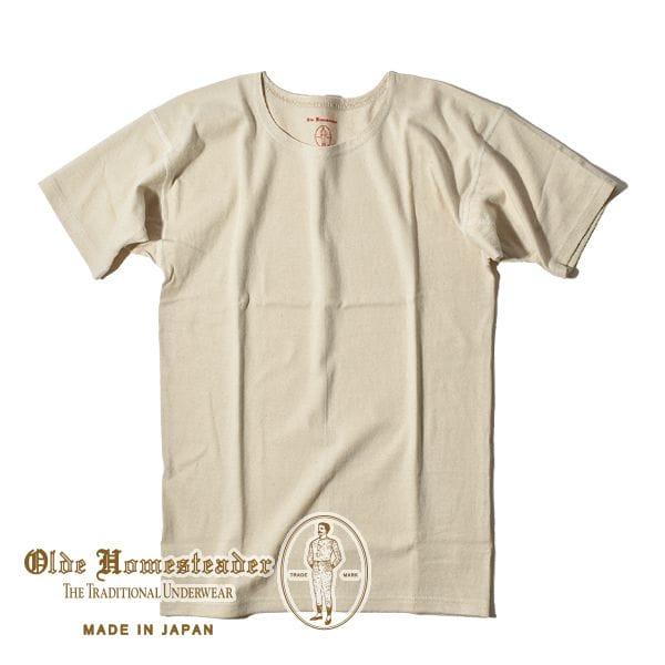 オールドホームステッダー ラスティックジャージー Tシャツ クルーネック ショートスリーブ カットソー メンズ オーセンティックシャツ 肌着 Olde Homesteader US011