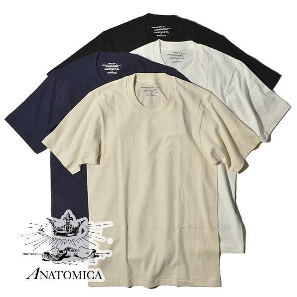アナトミカ オーガニックTEE Tシャツ 半袖 無地 カットソー ANATOMICA メンズ レディース ORGANIC TEE