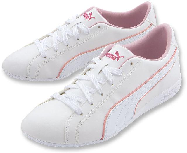 プーマ ルセット ホワイト×ピンク
