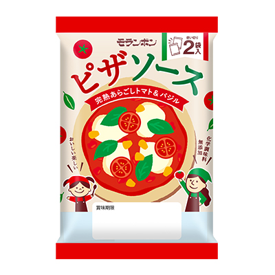 ピザソース 完熟あらごしトマト&バジル
