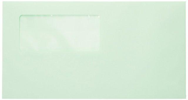 弥生 333108 窓付封筒 (グリーン)シールのり付き 200枚