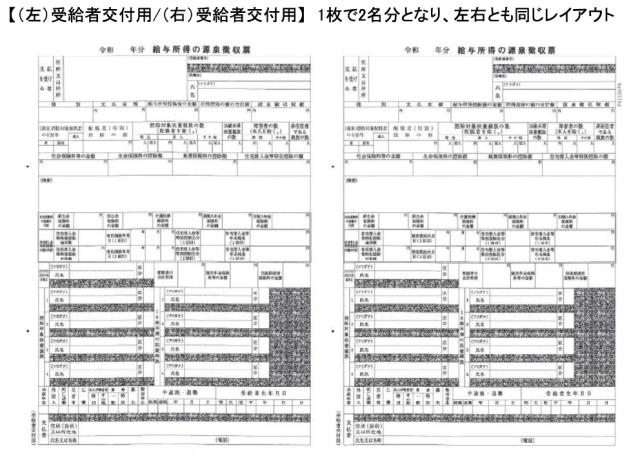 PCA  PA1134FA 電子申告用源泉徴収票 令和元年 単票用紙レーザープリンタ用(100名入)