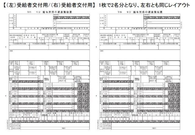 PA1134FA 電子申告用源泉徴収票 令和3年 単票用紙レーザープリンタ用(100名入)