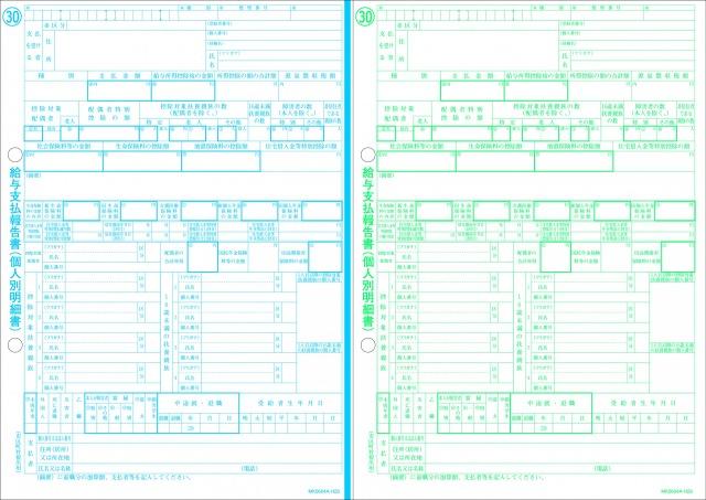 ミロク情報サービス 平成29年分所得税源泉徴収票(市区町村用) 30枚