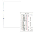 エプソン PZ22  元帳用紙 B5白紙(26穴 2,000枚)