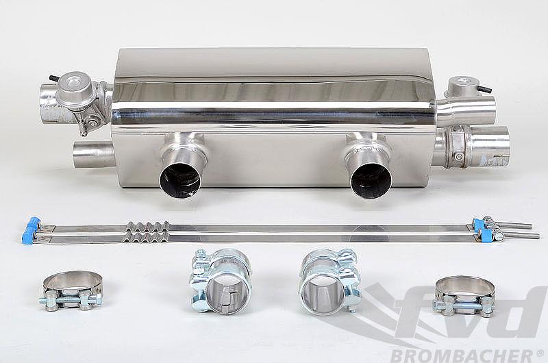 """991.2可変スポーツマフラーFVD Sport Muffler with valve """"Brombacher"""" 991.2"""