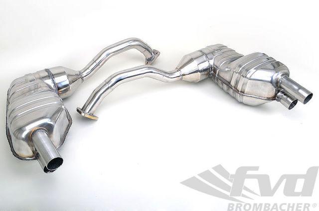 【987.2ボクスター/ケイマン・スポーツマフラー】FVD Sport Muffler Sport Catalytics