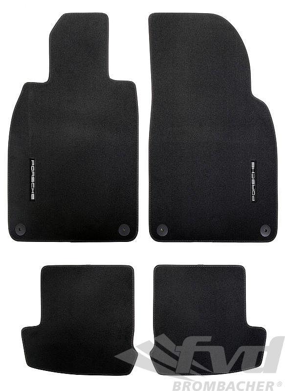 ポルシェ 991カレラ フロアマットセット-ブラック LHD Floor Mat Set 991