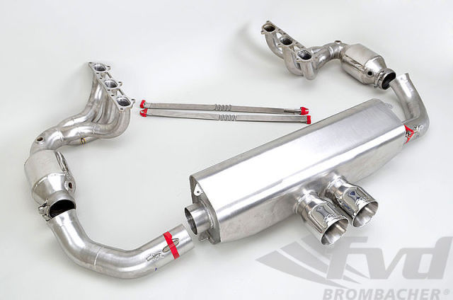 ポルシェ 991.1GT3 Fvdエグゾーストシステム Fvd Exhaust System Brombacher Edition