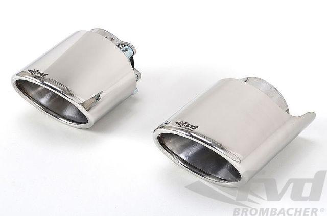 ポルシェ・991.2各モデル エグゾーストチップ・ポリッシュ Exhaust Tip・Polished Stainless