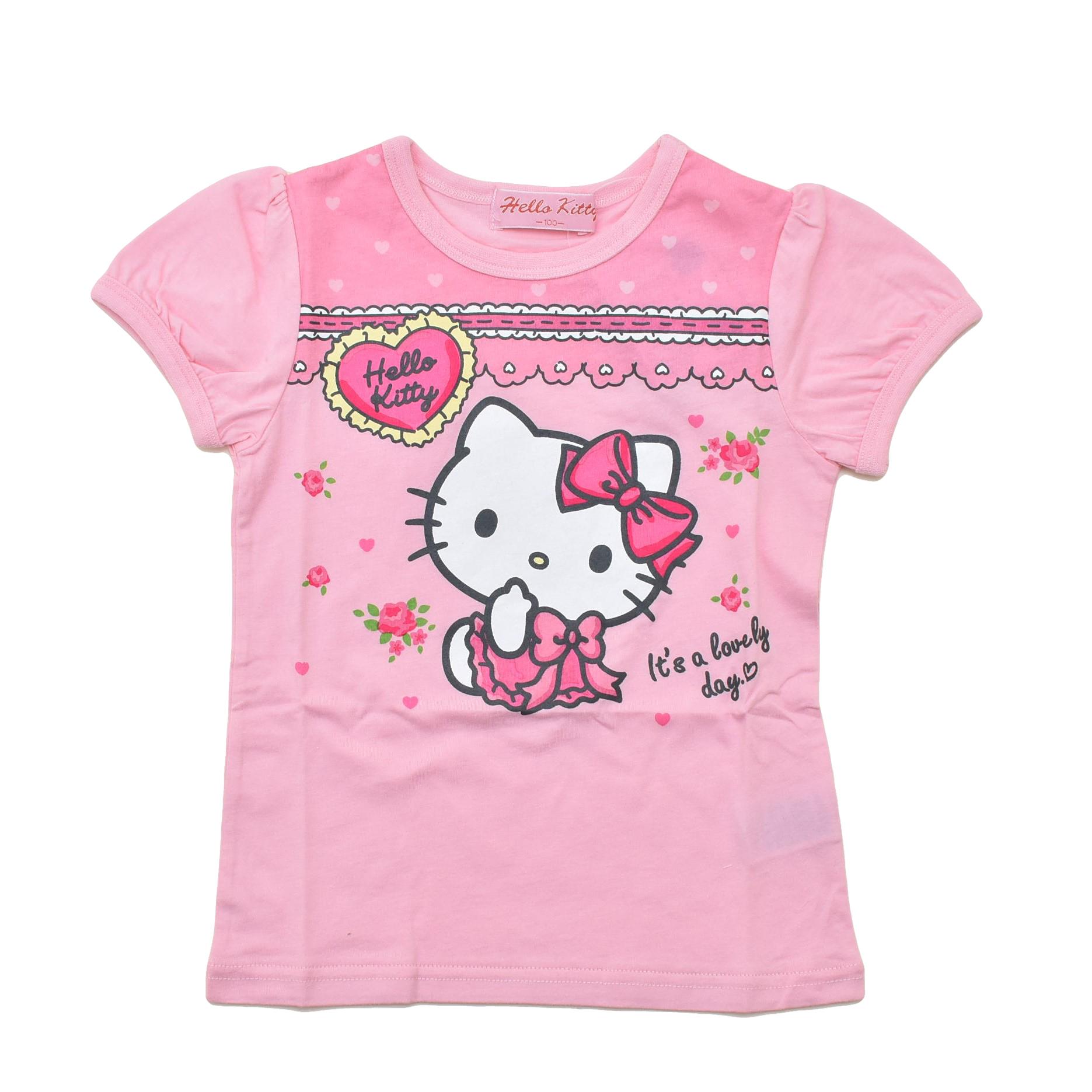ハローキティ  半袖Tシャツ 100cm-130cm (042KT0021)