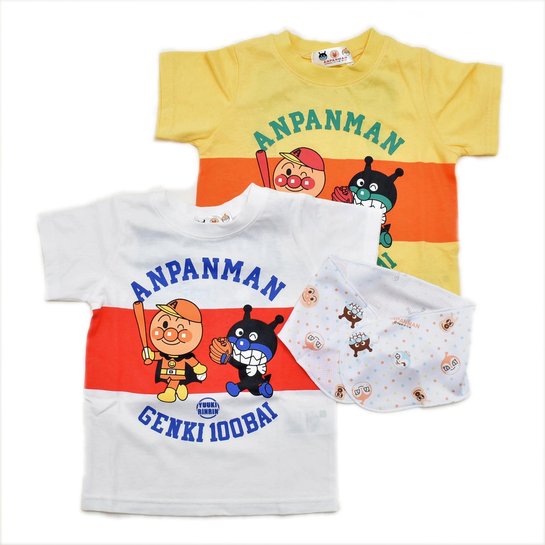 アンパンマン半袖Tシャツ  ネッククーラ付き 90/95/100cm (TA3225)