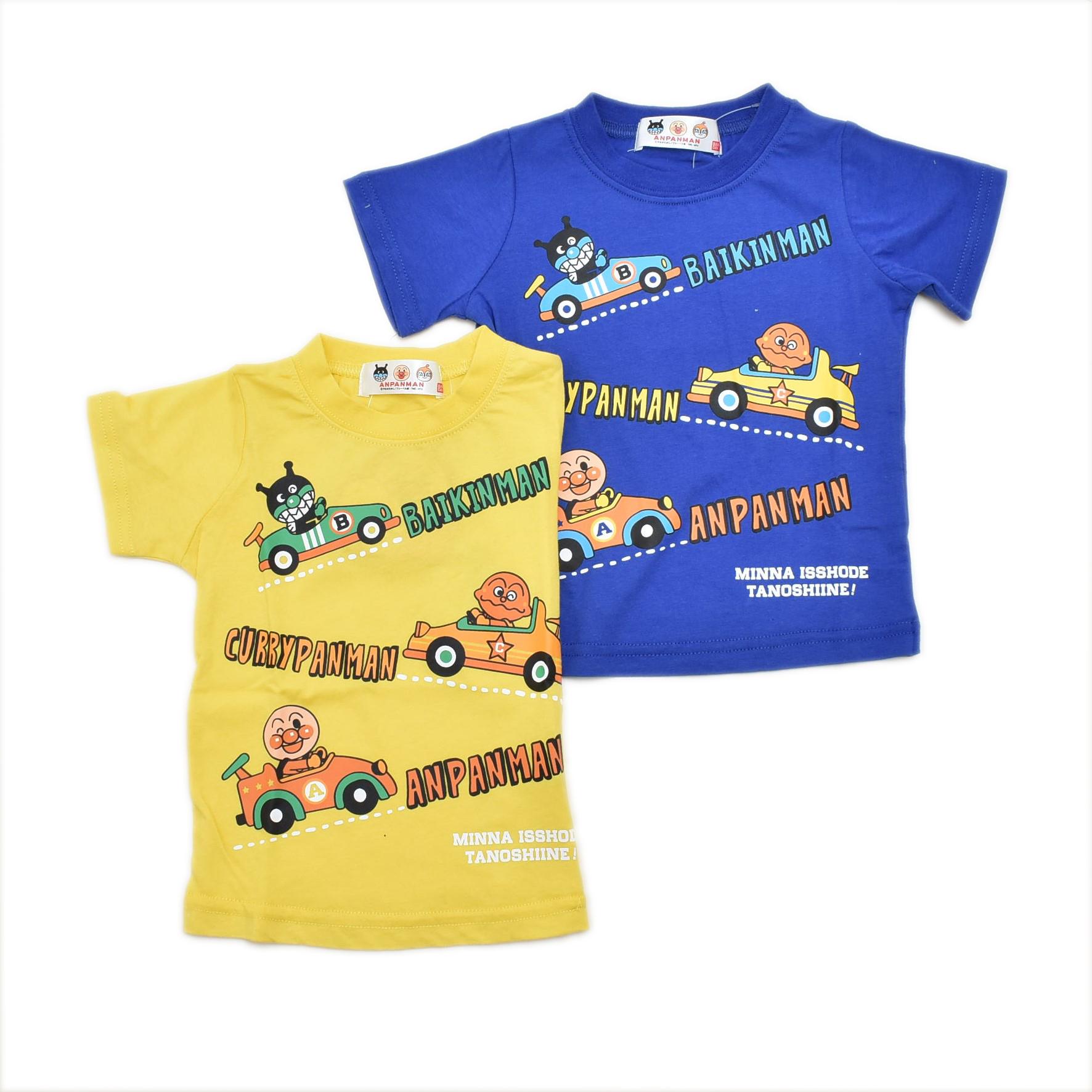 アンパンマン半袖Tシャツ クルマ  80cm (TA3236)