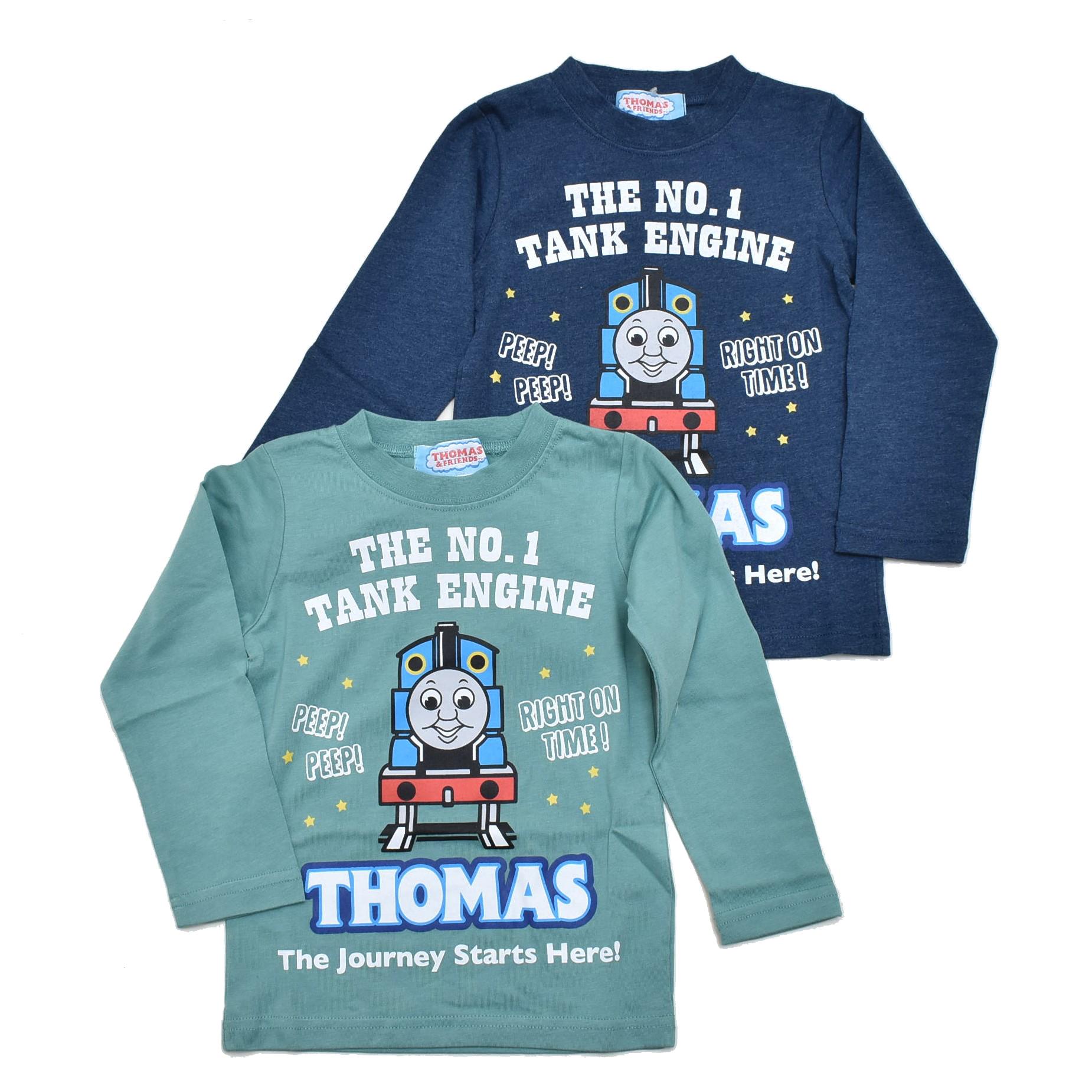 きかんしゃトーマス 長袖Tシャツ 100cm-120cm(043TM4011)