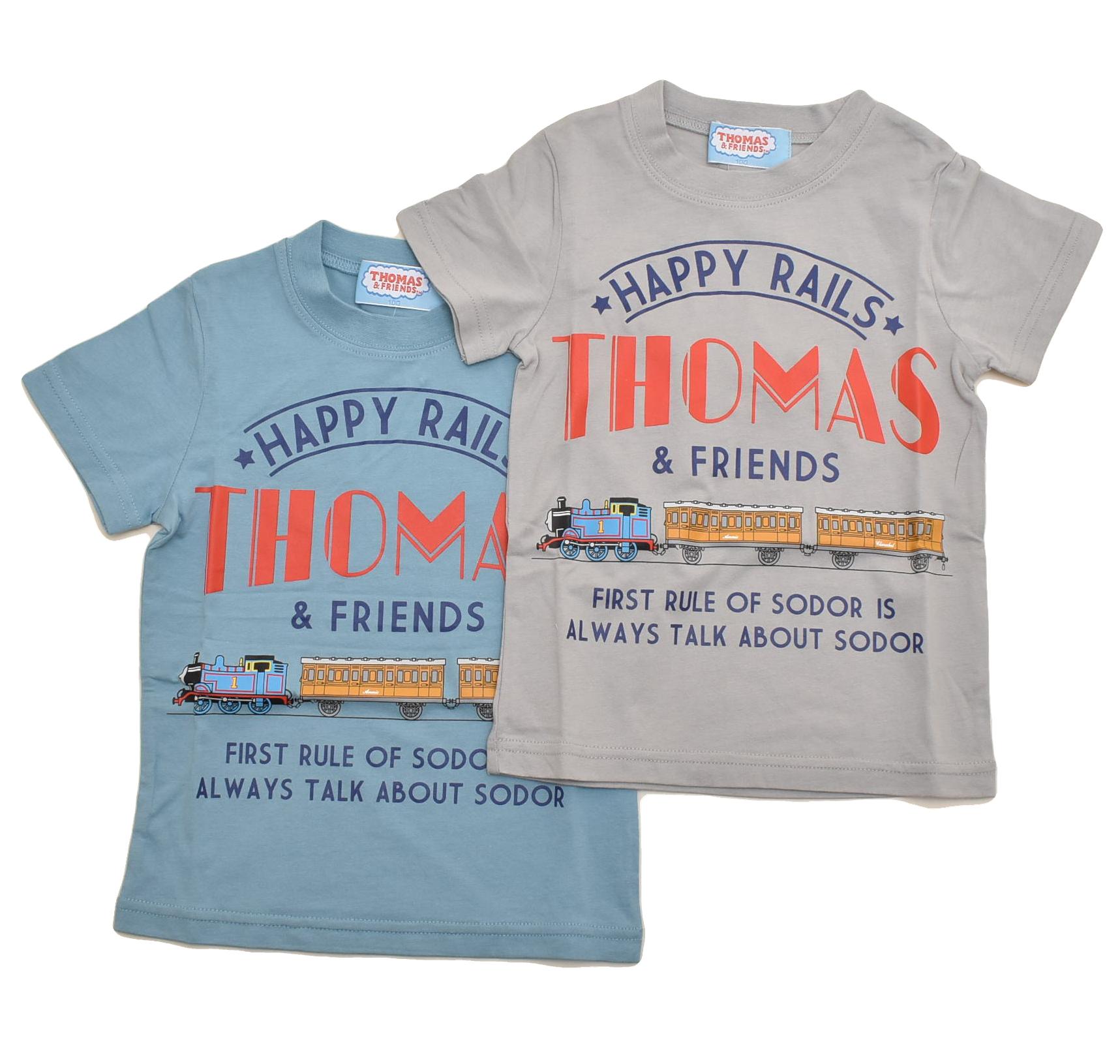 きかんしゃトーマス 半袖Tシャツ 100cm-120cm (142TM0011)