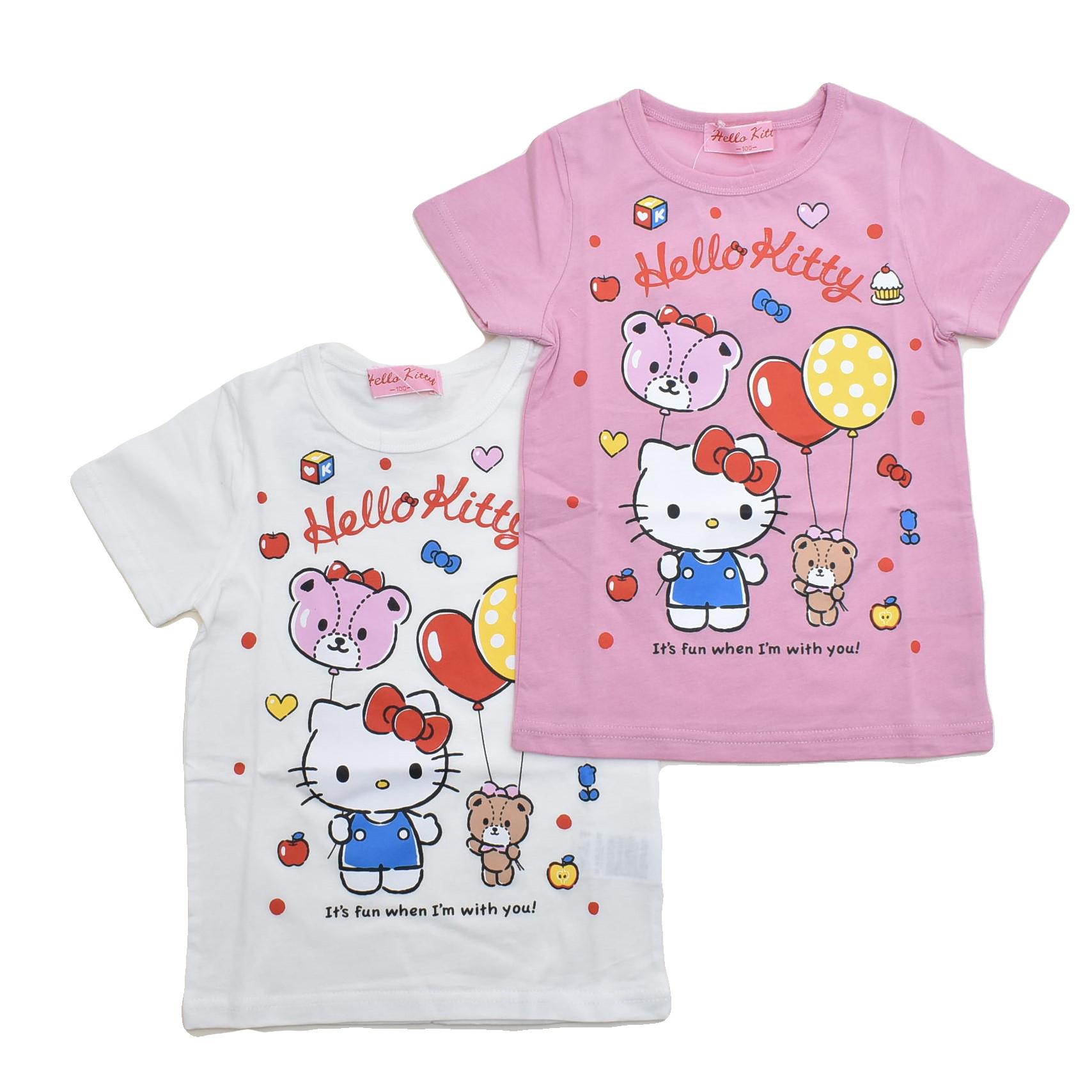 ハローキティ  半袖Tシャツ 100cm-130cm (142KT0021)