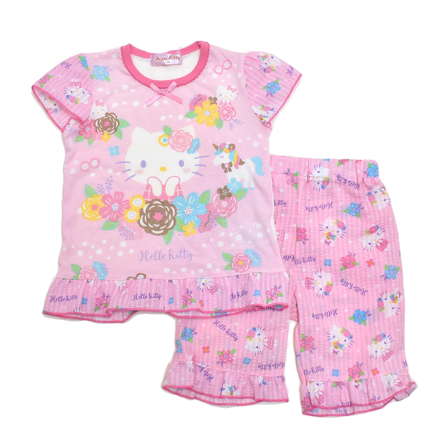 サンリオ ハローキティ  光る半袖パジャマ 100-130cm(132KT0041)