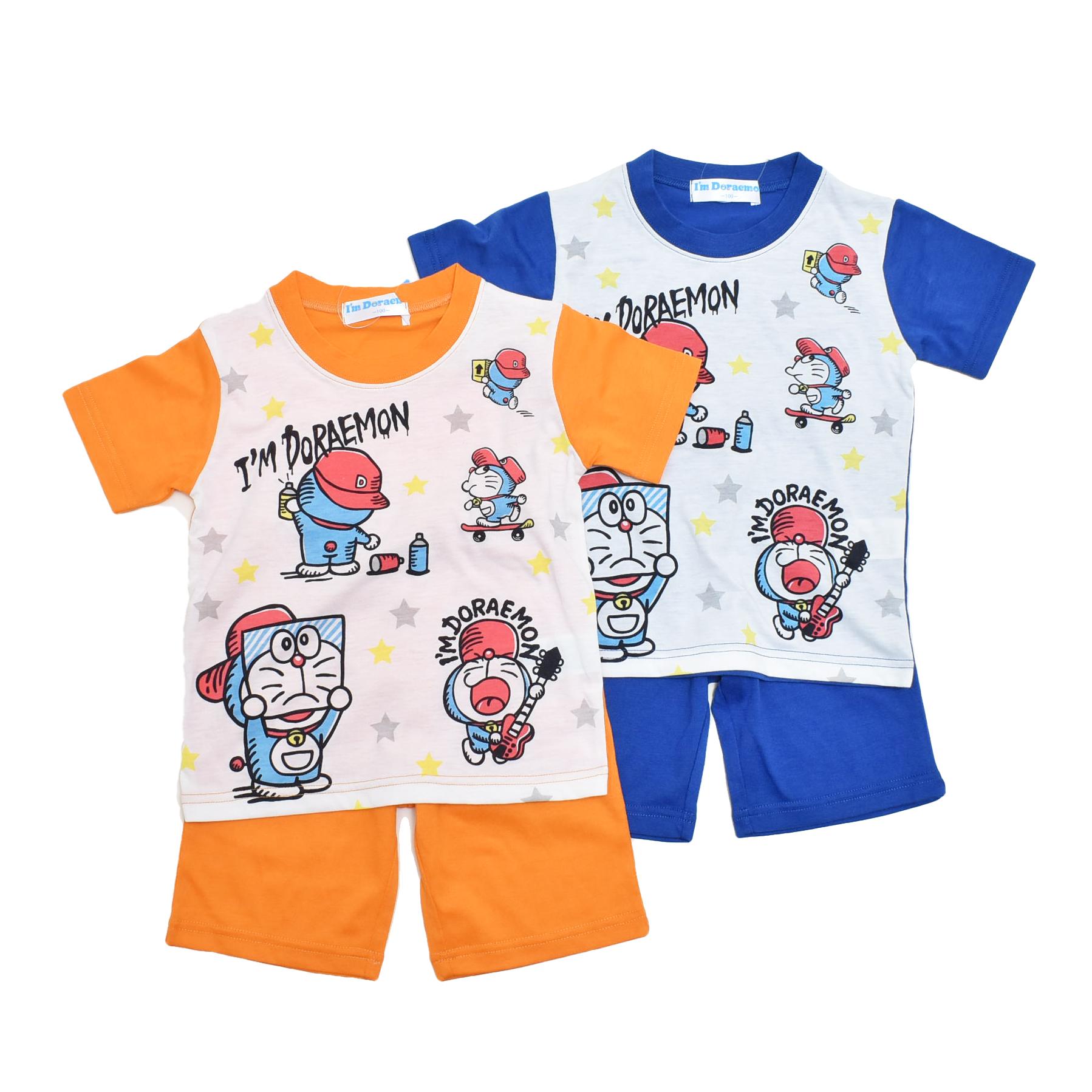 アイム ドラえもん 半袖Tシャツ生地のパジャマ 100cm-130cm  (132DR0071A)