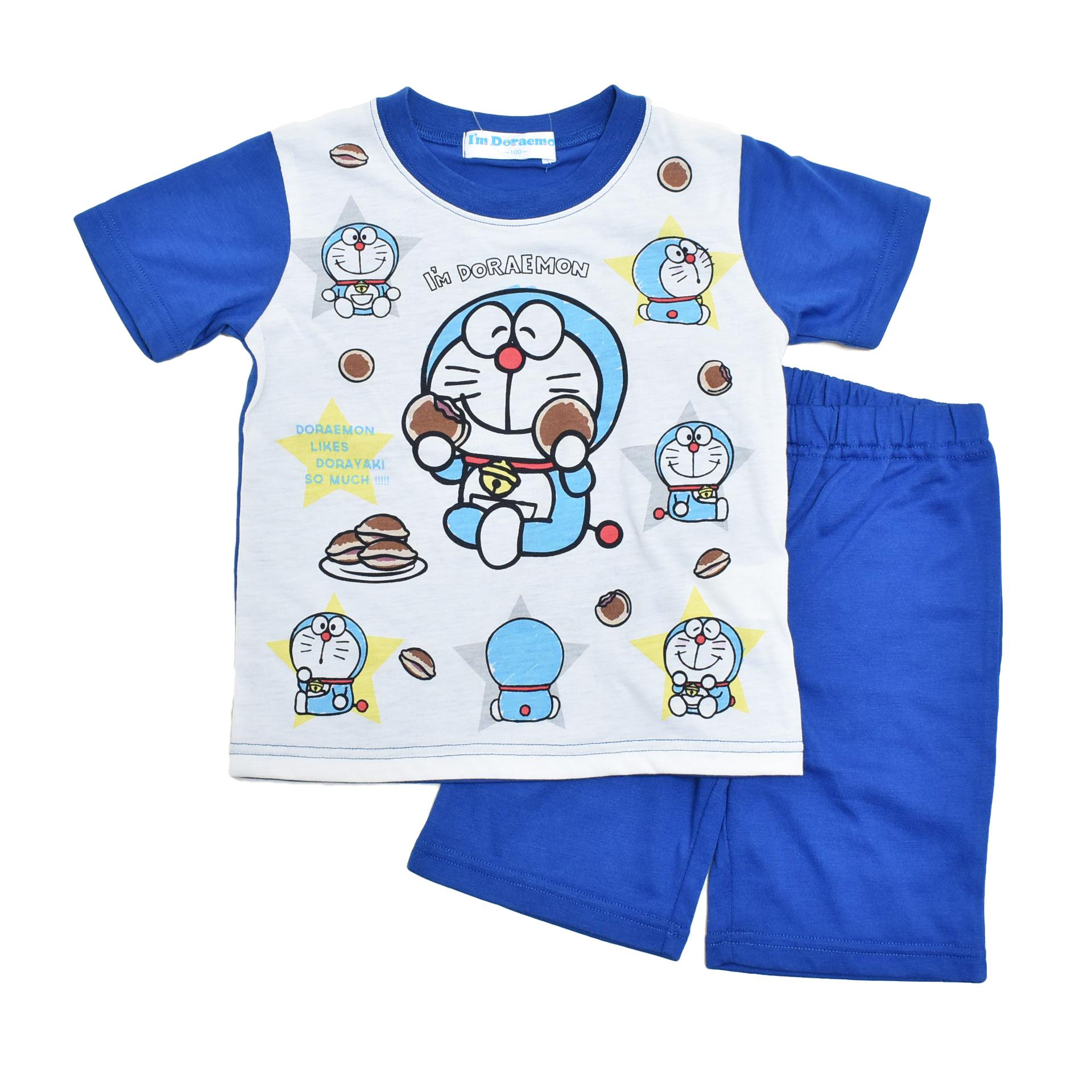 アイム ドラえもん 半袖Tシャツ生地のパジャマ 100cm-130cm  (132DR0071B)