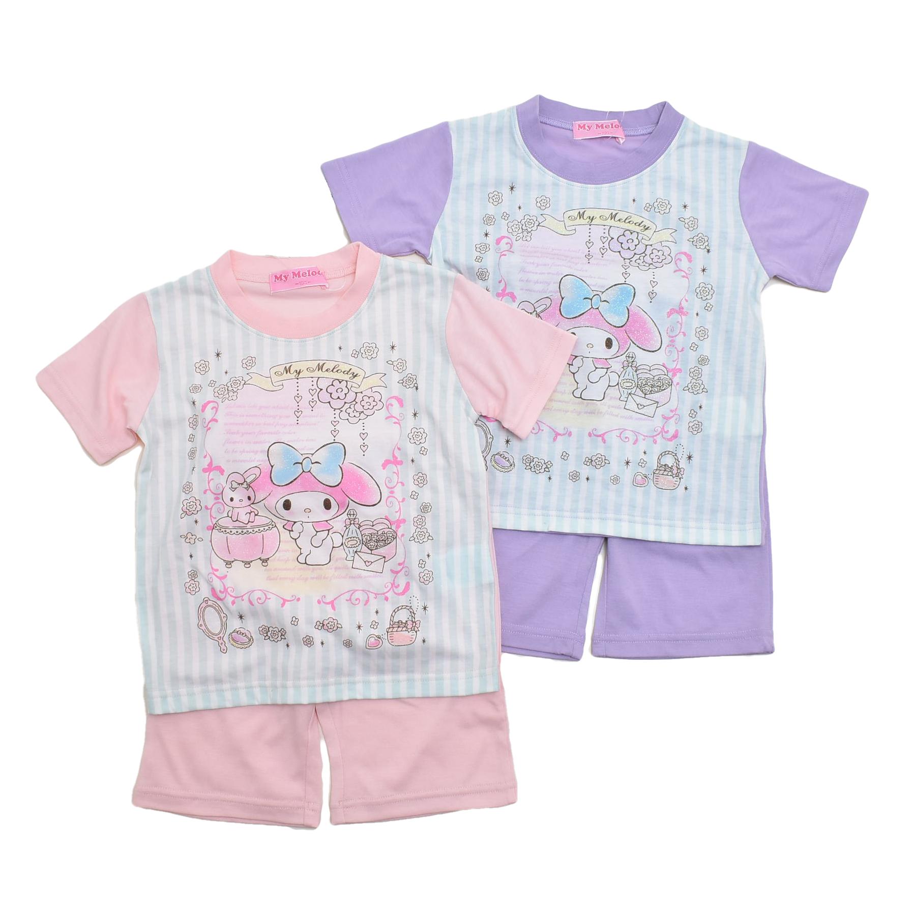 サンリオ マイメロディ  半袖Tシャツ生地のパジャマ  100-130cm(132MM0071)
