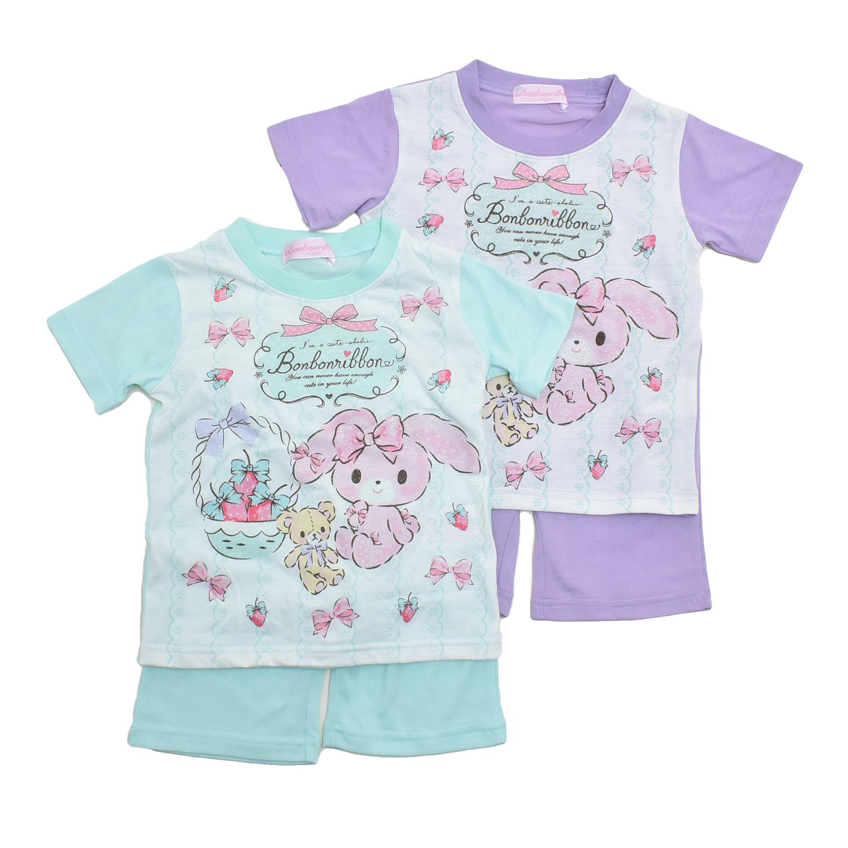 サンリオ ぼんぼんりぼん 半袖Tシャツ生地のパジャマ  100-130cm(132BO0071)