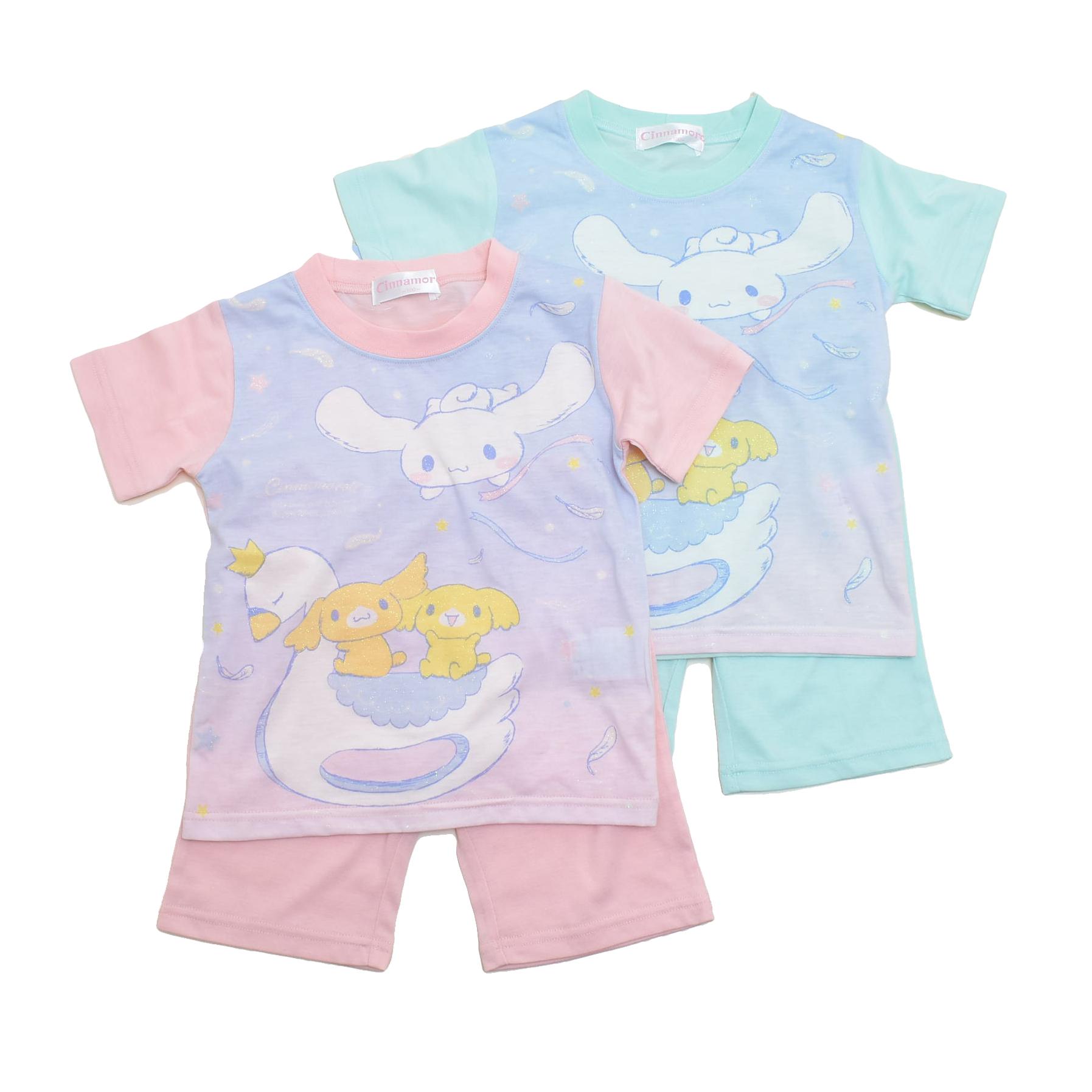 サンリオ シナモロール 半袖Tシャツ生地のパジャマ  100-130cm(132CN0071)