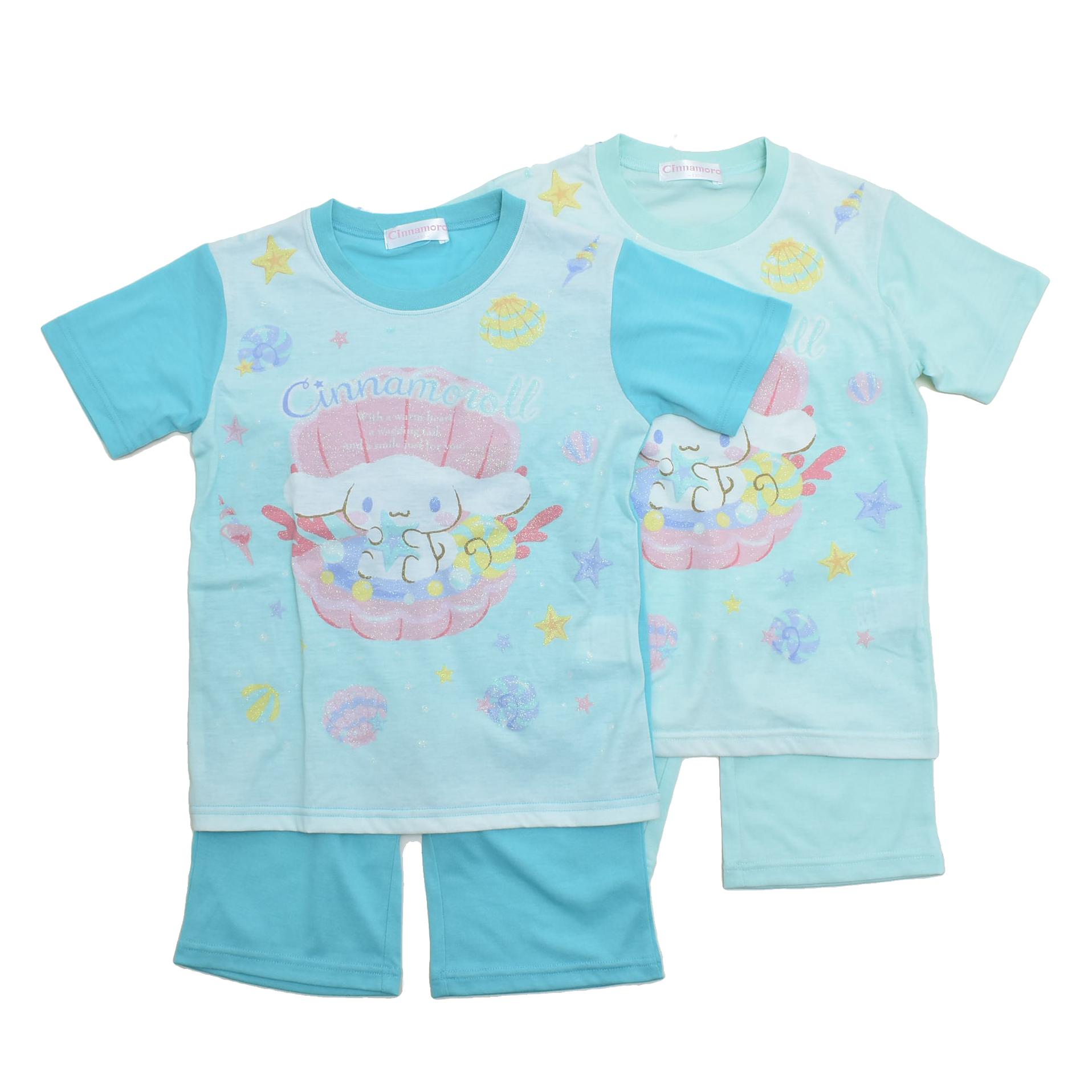サンリオ シナモロール  半袖Tシャツ生地のパジャマ 130cm-150cm  (132CN0072)