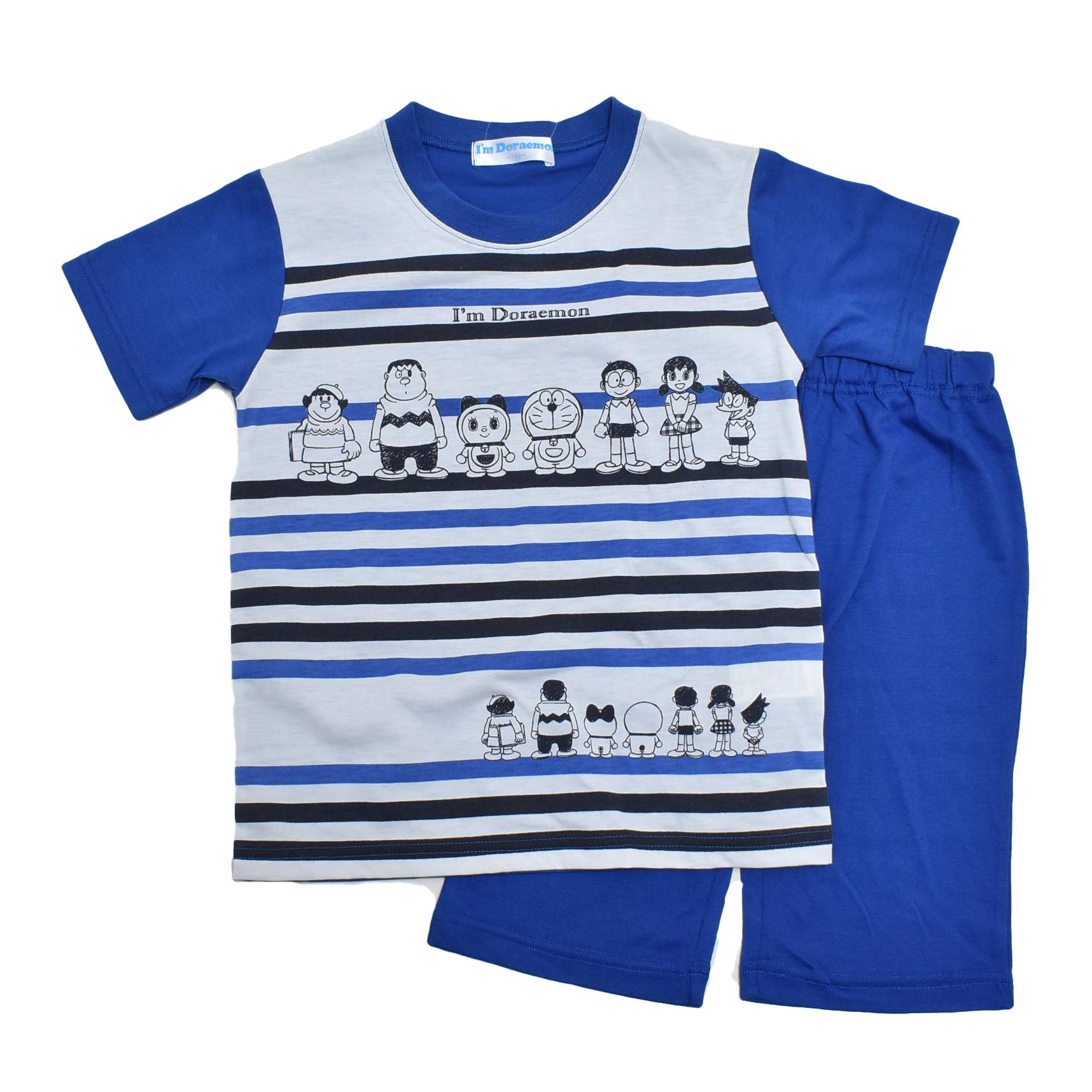 アイム ドラえもん  半袖Tシャツ生地のパジャマ ジュニア 130cm-150cm  (132DR0072-BU)