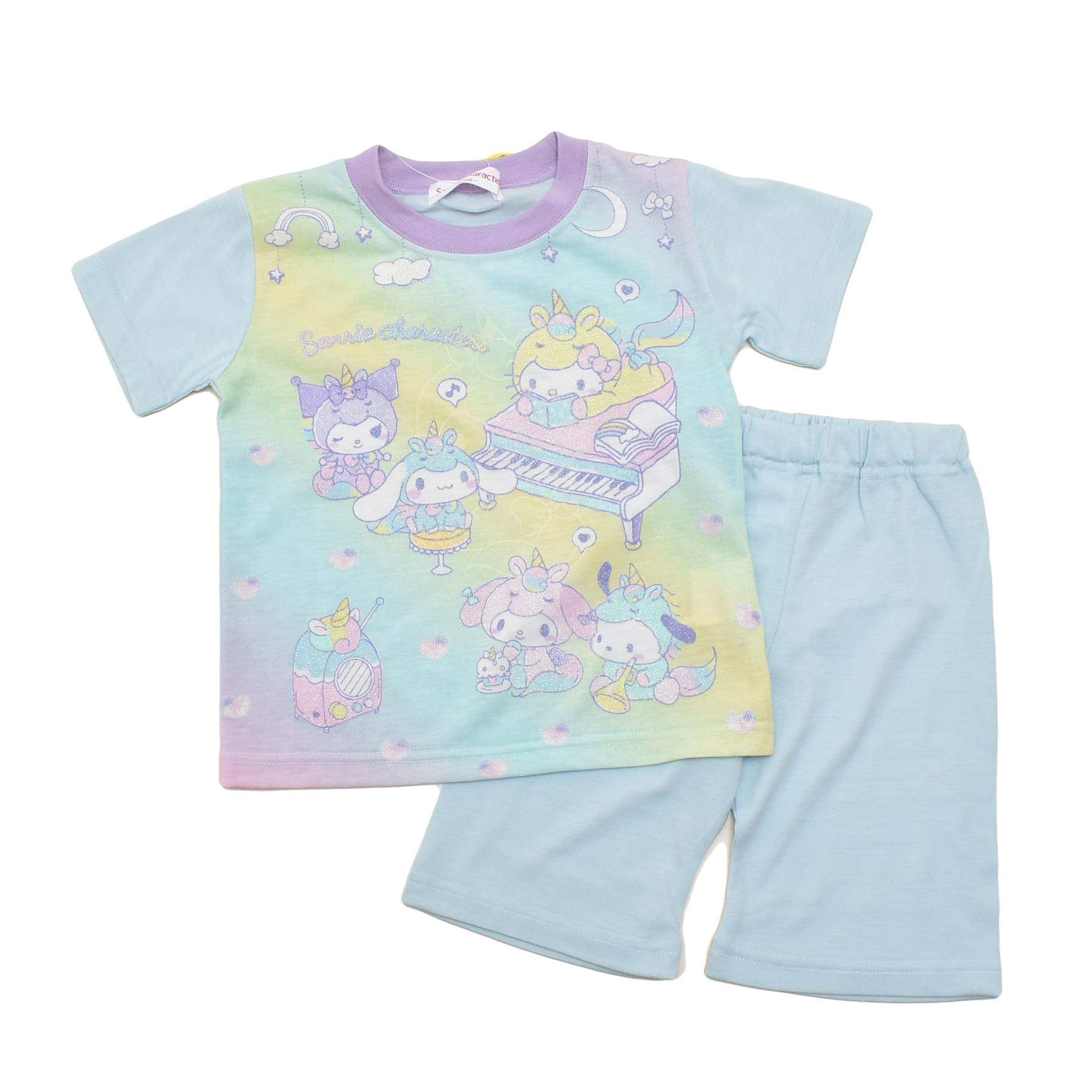 サンリオ キャラクターズ  光る 半袖Tシャツ生地のパジャマ  100-130cm(132SK0101-SX)