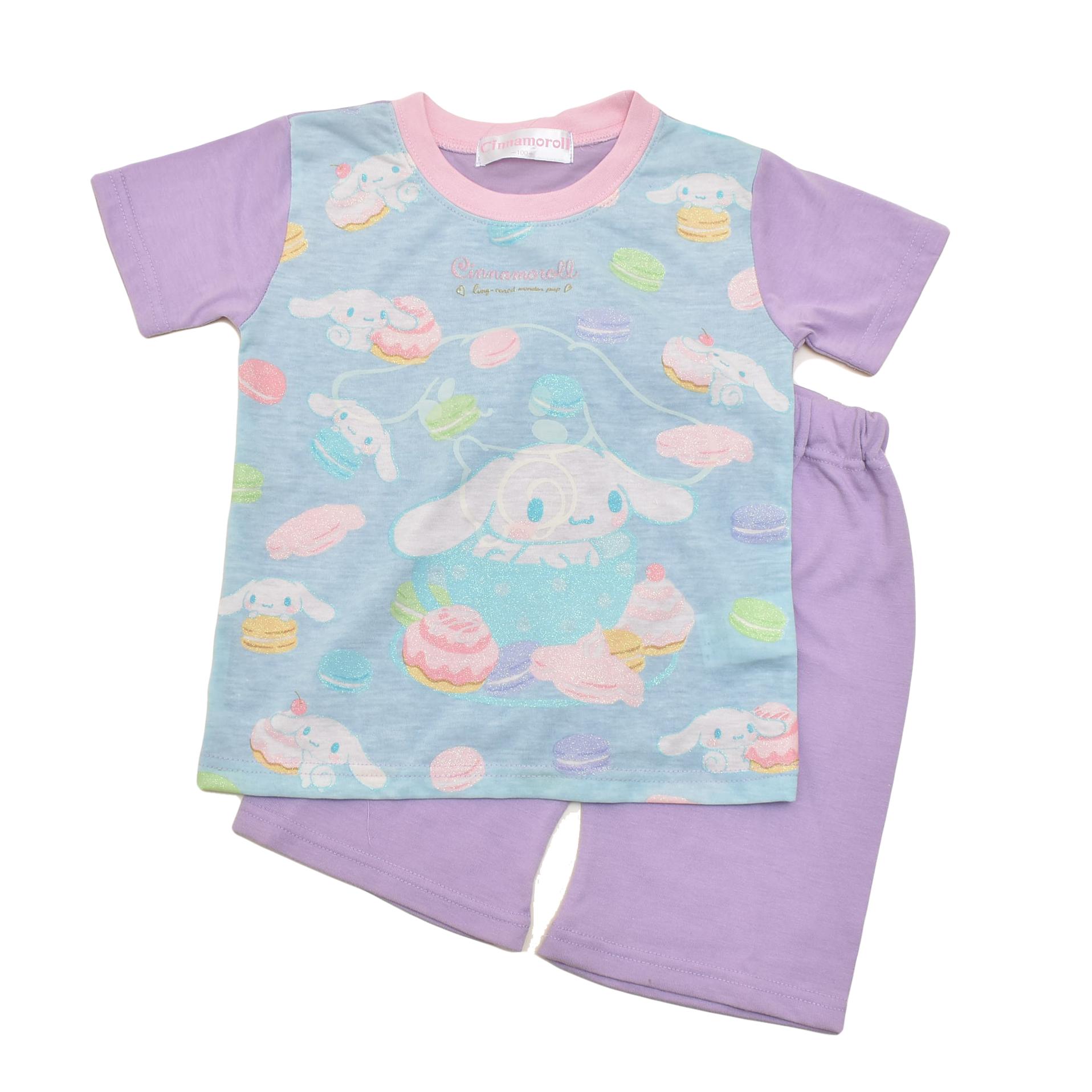 サンリオ シナモロール 光る 半袖Tシャツ生地のパジャマ  100-130cm(132CN0101-PP)