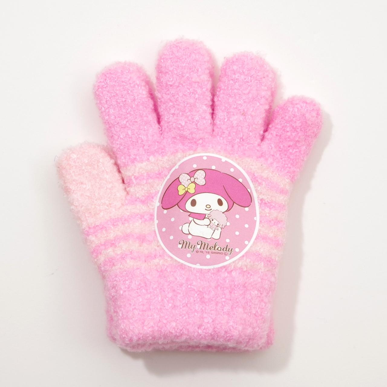 日本製 サンリオマイメロディ手袋 5本指 13.5cm (MM1610-135)