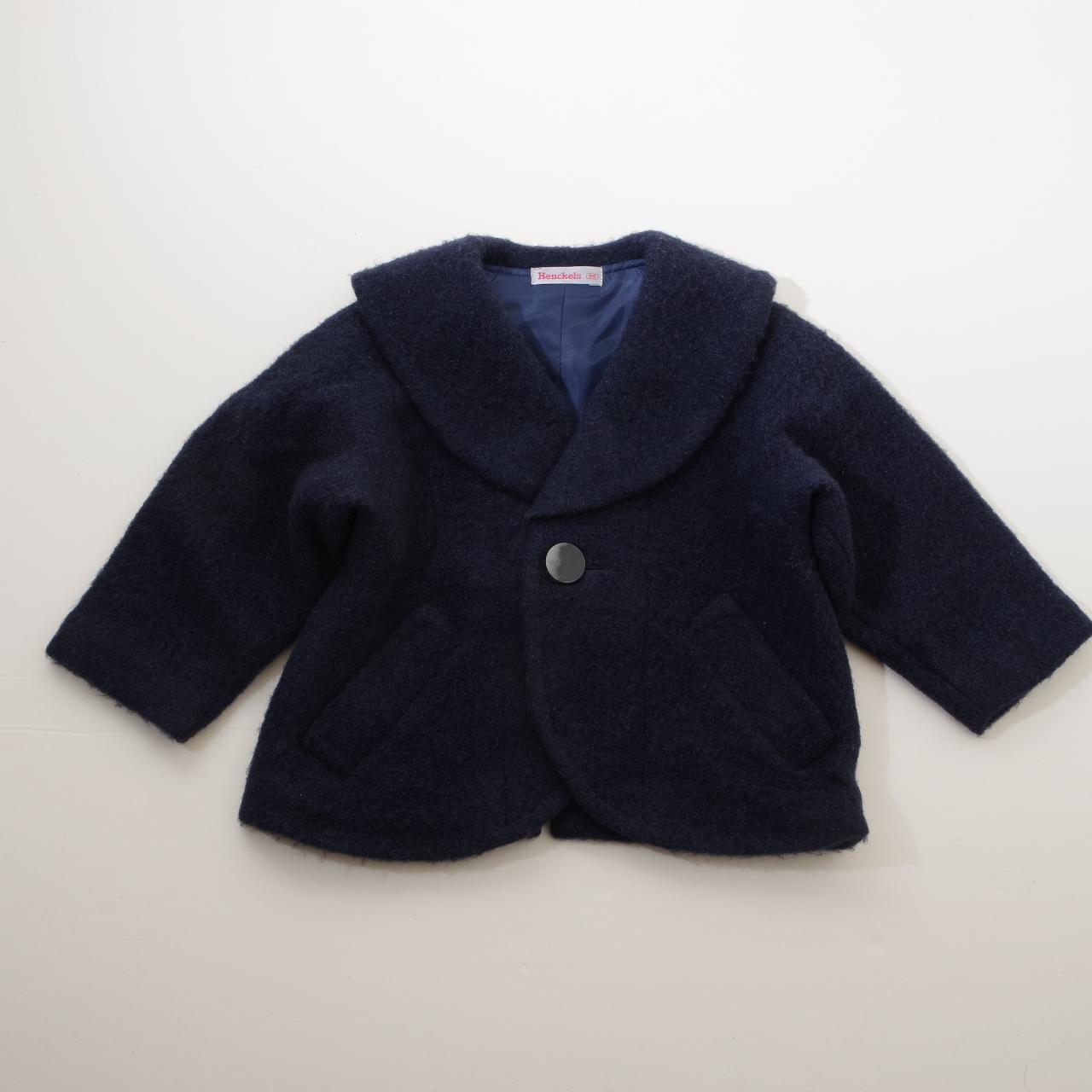 日本製 ヘンケルの紺のコート 95cm  (1612-2921)