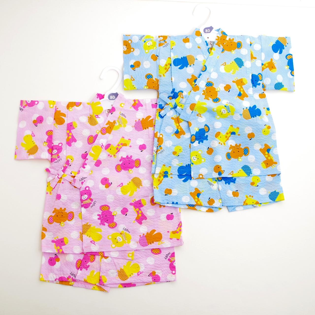 日本製 甚平スーツ 祭り 女の子/男の子 80cm/90cm/95cm(720900)
